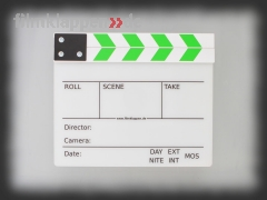 "Camera Slate ""FullSize white/green"""