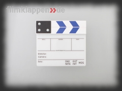 "Camera Slate ""HalfSize white/blue"""